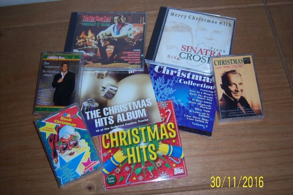 5 ASSORTED CHRISTMAS CD`s AND CASETTE TAPES