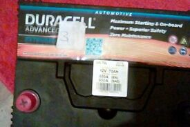 Duracell car Battery new & unused.