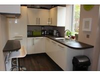 3 bed house, unfurnished, built in appliances, recently refurbished, decked garden to rear