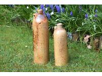 Antique German Selters Nassau Handmade Stoneware Bottles,stoneware,german stoneware,nassau,germany,