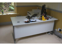 Left hand computer desk with drawer unit