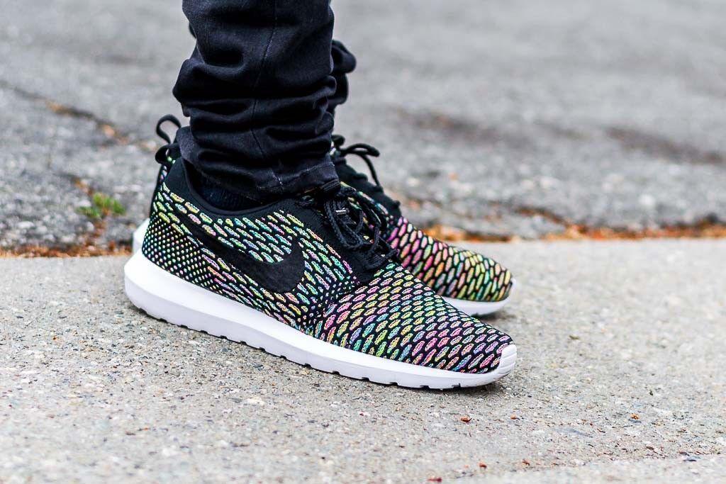 7b8dcfdb43c5 Мужская спортивная обувь Nike Roshe NM Flyknit MULTICOLOR Sz 14 Rainbow Run  LGBT Gay Pride BeTrue Shoes