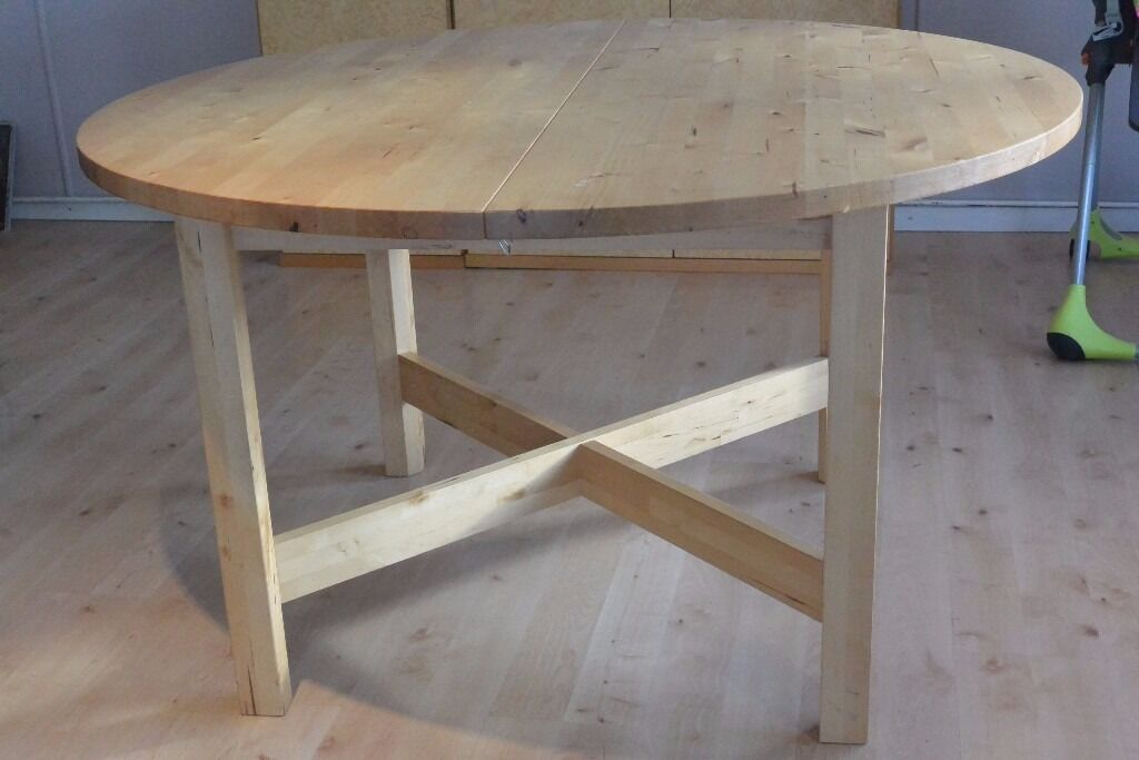 ikea norden extending dining table in east end glasgow. Black Bedroom Furniture Sets. Home Design Ideas