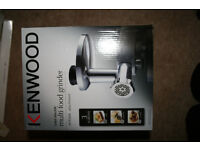 Kenwood mincer and food grinder attachment New AT950A