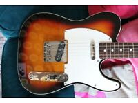 Fender MIJ TL-62 1962 Reissue Telecaster Sunburst with upgrades & original Fender hard case