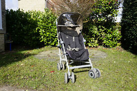 Maclaren Techno XLR Pushchair with soft carry cot and accessories