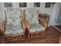 Set of conservatory armchairs and sofa