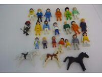 PLAYMOBILE FIGURES JOB LOT PEOPLE AND HORSES