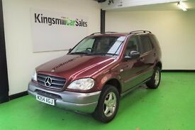 * 2000 W reg MERCEDES ML320 * ONLY 86K * 3.2 PETROL * AUTO * SEVEN SEATER * LEATHER SEATS * ALLOYS