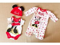 Baby girl clothes set. First size