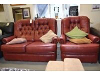Leather Sofa and Chair GT 873