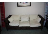 3 Seater Rattan Sofa