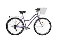 "Brand New Ladies City Bike Bisan CTS 5300 Shimano 7 Speed 26"" Rims Rear Rack Mudguards Front Basket"