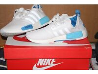 Adidas NMD R1 White and Light blue colourway