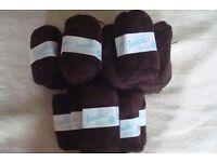Brown knitting wool
