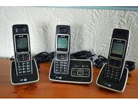 BT 6500 Trio cordless telephones