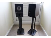 KEF Q100 Speakers with stands.
