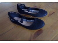 Next Girls Black Party Shoes Size 1