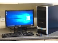 "Windows 10 PC - inc keyboard, mouse & 19"" LG screen"