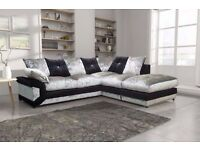 Brand New Dino Jumbo Cord or Dino Diamond Crushed Velvet Corner Sofa Or 3+2 Sofa