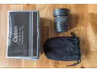 Opton (Samyang/Rokinon) 8mm Fisheye lens for Canon EFS F3.5, Boxed and MINT