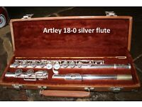 Silver Flute with Carry Case