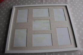 4 M&S white photo frames