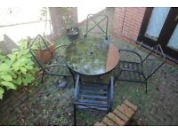 4 Seater Outdoor dining table and chairs