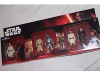 "6 x Star Wars 3.75"" figures (EPIC BATTLES PACK inc JANGO FETT / MACE WINDU / DARTH MAUL) - NEW"