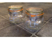 Pair Of Genuine Kilner Jars