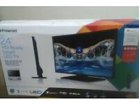 """polaroid 24"""" hd ready smart led tv brand new never opened sealed in box"""