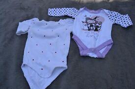Girls 3-6 month long sleeve vest bundle