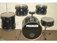 Premier Cabria APK Sapphire Blue Wood Lacquered 5 Piece Drum Kit - DRUMS ONLY
