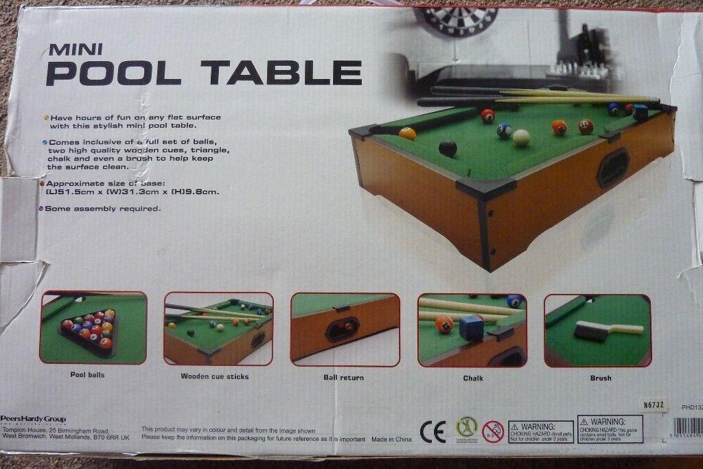 Mini Pool Table In Stranmillis Belfast Gumtree - Mini pool table size