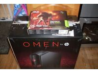 HP OMEN Gaming PC Core i5-7400 3.0GHz 16GB RAM 128GB SSD 1TB GTX 1050Ti 4GB GPU Win 10 Wi-Fi