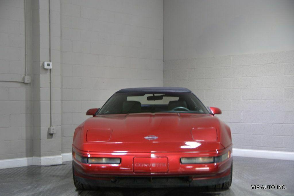 1992 Burgundy Chevrolet Corvette Convertible  | C4 Corvette Photo 7
