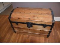 A Vintage Victorian Pine Treasure Chest/Trunk.