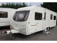 Avondale Argente 4 Berth 2006 Fixed Transverse Bed Twin Axle Caravan + Motor Movers + Full Awning
