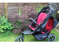 phil and teds explorer black/red jogger double seat stroller