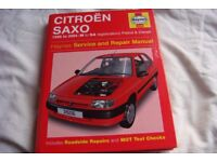 haynes service and repair manual ,for citroen saxo