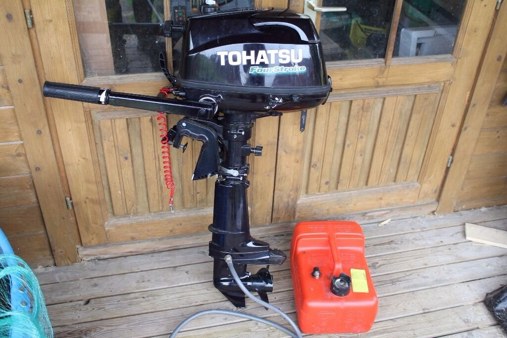 Tohatsu 4hp Short Shaft 4 Stroke Outboard 2014 Hardly used550 onoin Ilkeston, DerbyshireGumtree - Hardly used, less than 8 hours actual use. Tohatsu 4hp short shaft outboard only used as an auxiliary. Purchased new in august 2014, comes complete with separate fuel tank and fuel line. Can be seen running, Collection only
