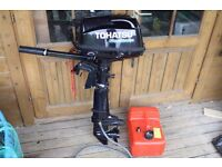 Tohatsu 4hp Short Shaft 4 Stroke Outboard 2014 Hardly used £500 ono