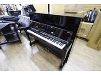 Hausmann Upright Black Piano at Sherwood Phoenix Pianos
