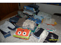 Huge bundle of boys clothes and shoes,from 0 to 2 years