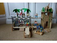 Fantastic pirate hideout with plastic pirate figures for hours of imaginary fun! :-)