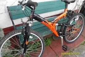 silver fox reactive full suspension mountain bike