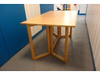 Solid Light Colour Wood Dining Table