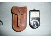 Weston Master Light Meter with leather case.