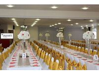 Hire your White/Black Spandex Chair cover with FREE sash for just 80pence