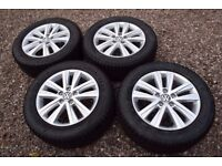 "Genuine 17"" VW Transporter T5 T6 Caravelle Alloy Wheels Goodyear 235/55R17 Winter Snow Tyres"
